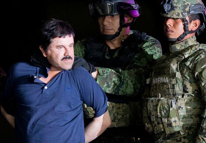 El Chapo lors de sa dernière arrestation le 8 janvier 2016.