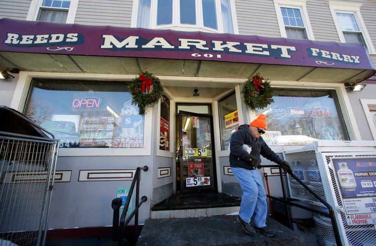 De bewuste winkel in het  stadje Merrimack (New Hampshire) waar het winnende lot werd gekocht.