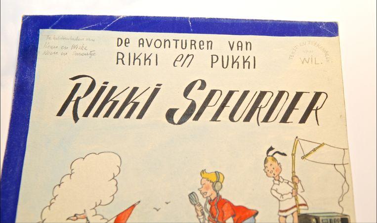 Zo ziet de originele tekening van het eerste Suske en Wiske-album eruit. De tekening werd eerder al geveild.