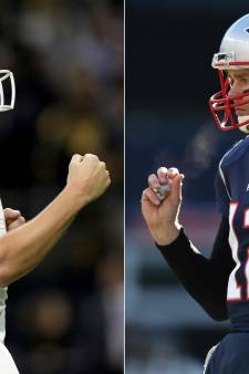 Los Angeles Rams en New England Patriots in Super Bowl