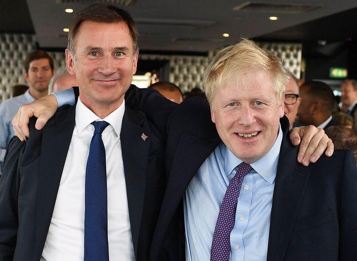 Jeremy Hunt et Boris Johnson.