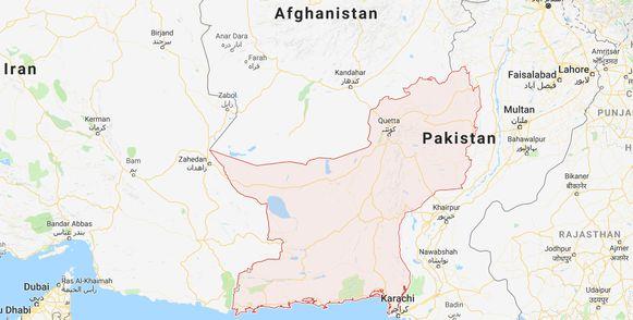 De explosie vond plaats in de provincie Beloetsjistan.