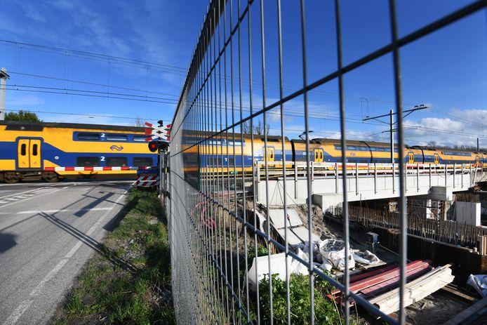 Werkzaamheden aan het spoor bij Tricht.