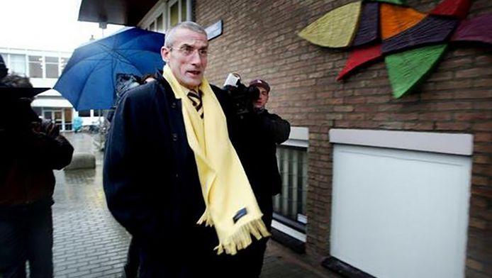 Marten Fortuyn in 2003 bij het proces van Volkert van der Graaf, de moordenaar van Pim Fortuyn.