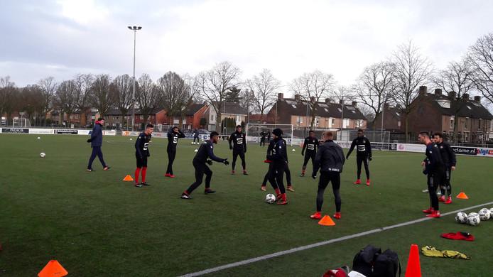 Hier Willem II in training bij VOAB in Goirle.