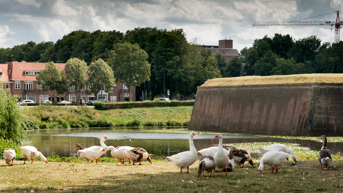 Het voormalige fort aan de Citadellaan in Den Bosch is op 15 augustus 2020 het decor van de start van de etappe van Den Bosch naar Utrecht in de Ronde van Spanje.