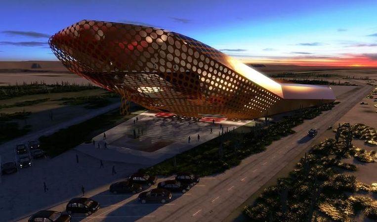 De Spaceport, die Space Experience Curaçao speciaal voor zijn ruimtereizen wil bouwen, ziet er alvast erg futuristisch uit.