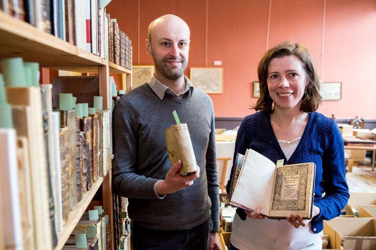 Frederick Moyaert en Nathalie Van de Wiele van veilinghuis Van de Wiele Auctions.