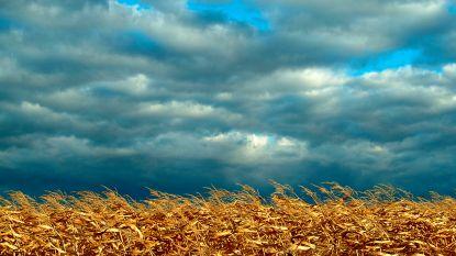 Brede opklaringen en wolken wisselen mekaar af