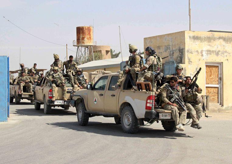 Afghaanse elitetroepen arriveren in Kunduz.