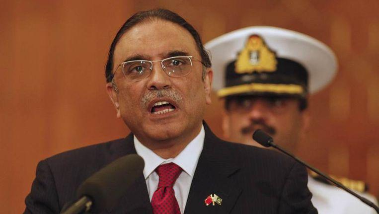 De president van Pakistan Asif Ali Zardari. Beeld reuters