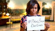 """First Lady steunt vermiste meisjes: """"Geen geïsoleerd incident"""""""