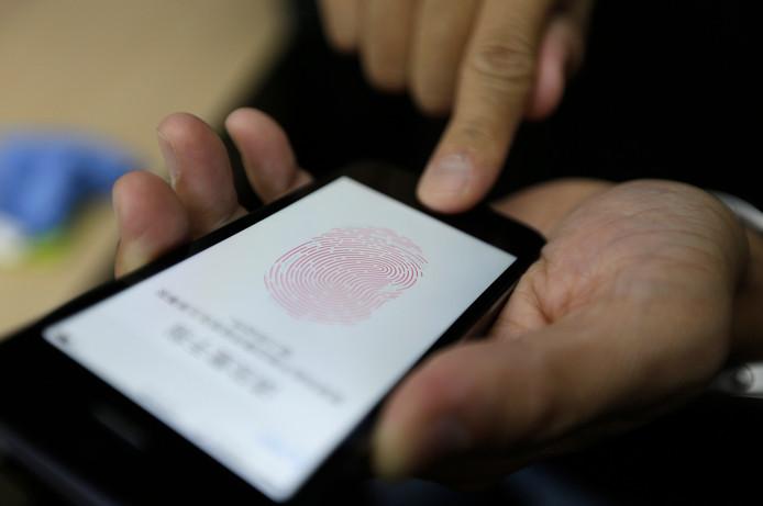 De Touch ID-functie op de iPhone 5S.