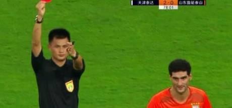Fellaini prend trois matchs de suspension à cause d'un coup de coude