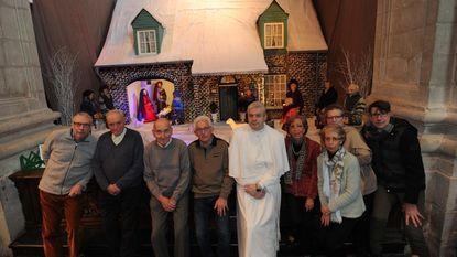 """""""Grimbergs huis basis voor kerststal"""""""