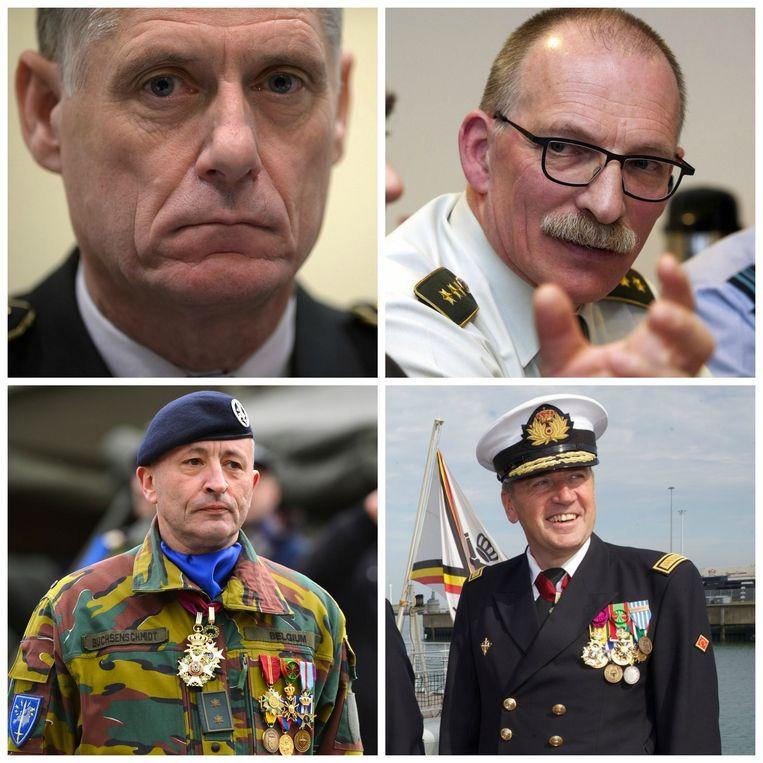 (vlnr.) Eddy Testelmans, Marc Compernol, Guy Buchsenschmidt, Michel Hofman.
