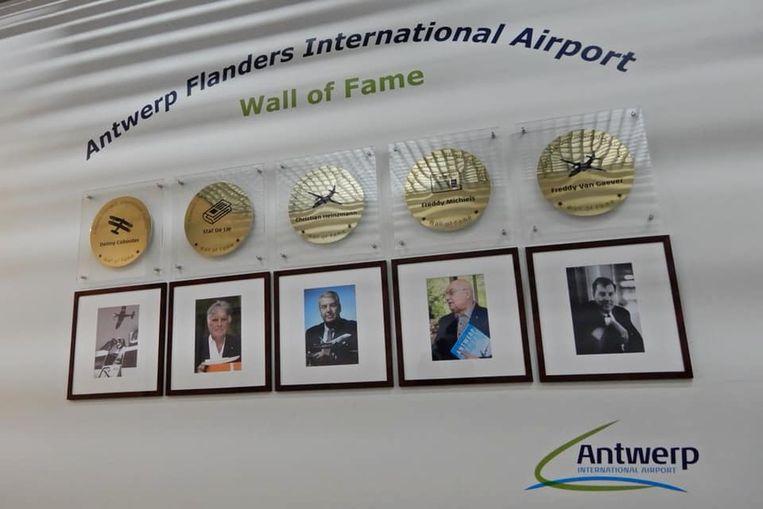 De Wall of Fame op de Antwerpse luchthaven