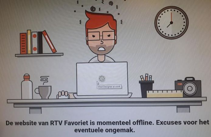 De website van Favoriet is even 'out of order'.