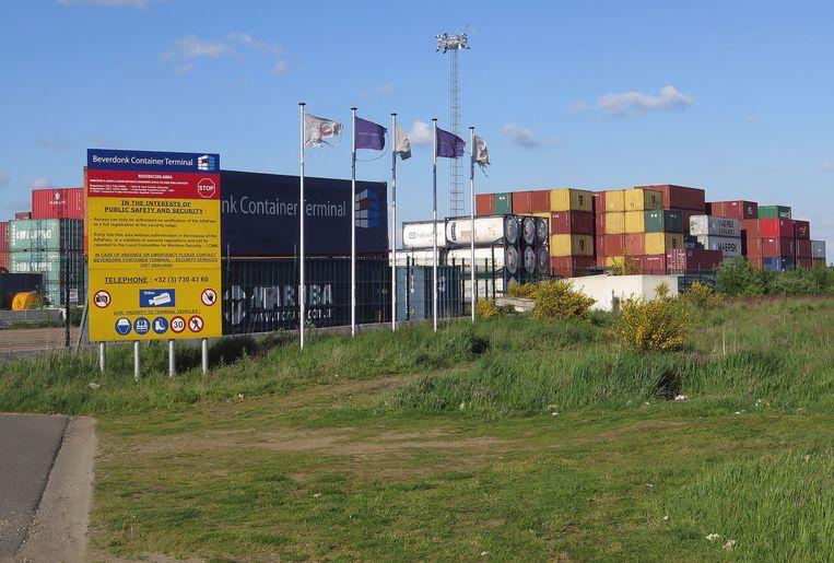 Het lawaai van de containerterminal Antwerp East aan het Albertkanaal in Grobbendonk is al geruime tijd een ergernis van enkele buurtbewoners. Archieffoto.