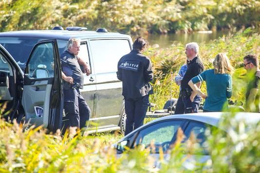 Politie in Oud-Beijerland.