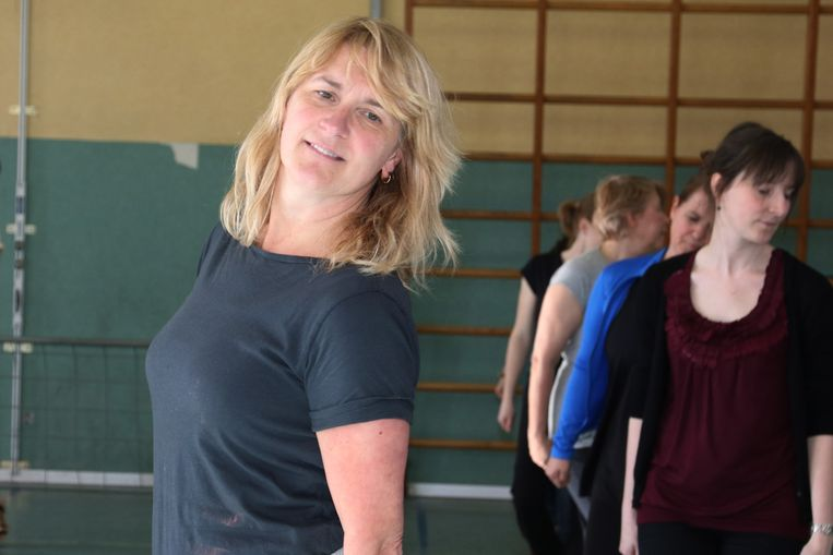 Joke Quaghebeur in haar dansschool.