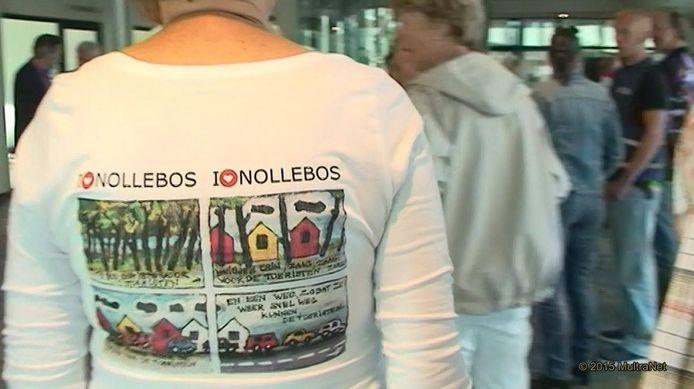 Mei 2017, protest tegen vakantiehuisjes in het Nollebos.