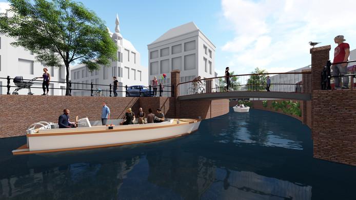 Als de Nieuwe Mark verdiept wordt, verdwijnt het hoogteverschil bij de Tolbrug in de Haven en kunnen bootjes daar door varen.