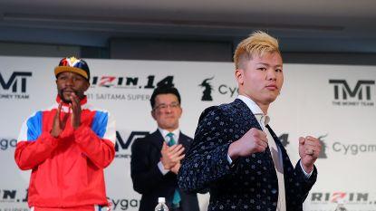 Knikken de knieën al, Floyd? Japanner en toekomstige tegenstander van Mayweather stuurt duidelijke boodschap met brutale KO