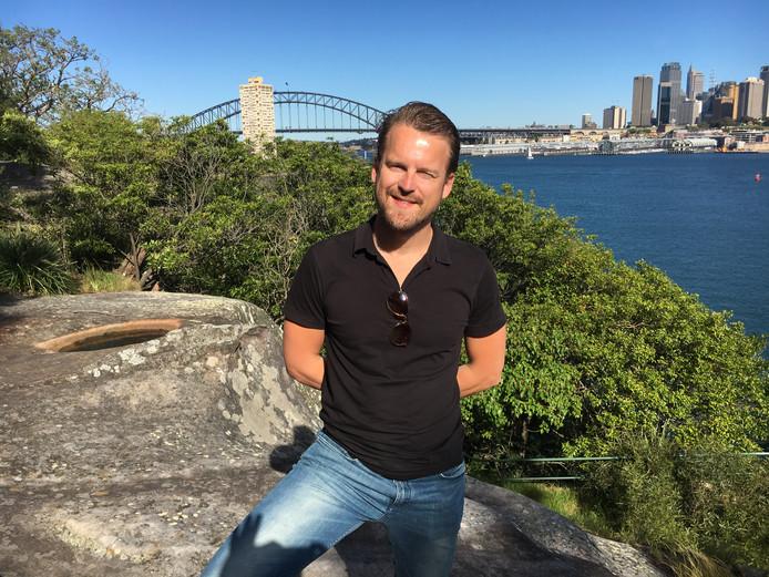 Oud-Woerdenaar Ferdinand van der Neut verblijft momenteel in Australië om zijn product tegen fruitvliegjes, de Fruit Fly Ninja, te promoten.