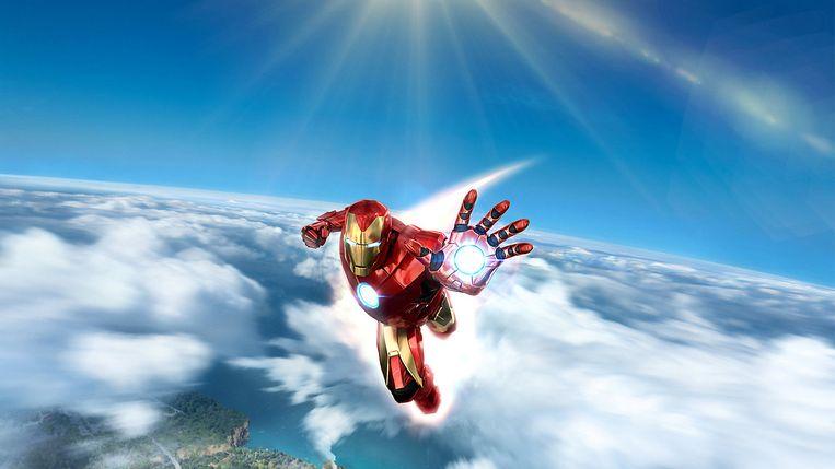 De Iron Man uit 'Iron Man VR' is die van de strips, niet de films.