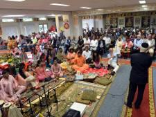 Steun voor geteisterde hindoetempel: 'Dit is een steen door elk gebedshuis'