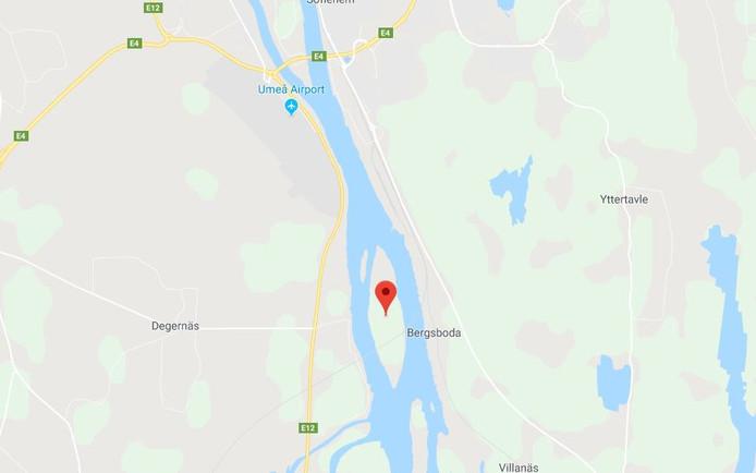 Het vliegtuigje stortte ten zuiden van Umea neer