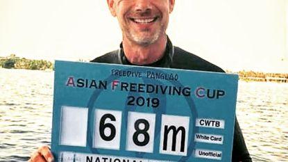 Gert (43) is Belgisch kampioen freedive na duik van 68 meter diep
