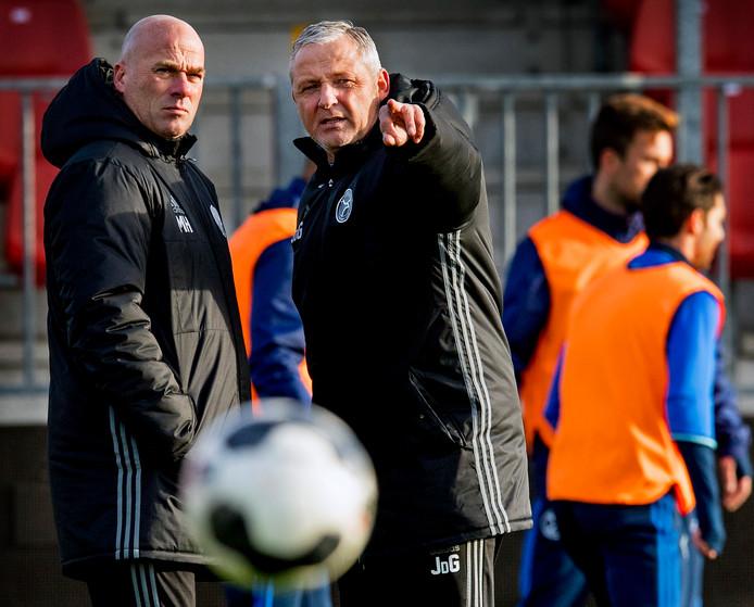 De trainers Jack de Gier en Marco Heering kenden samen een succesvolle tijd in Almere.