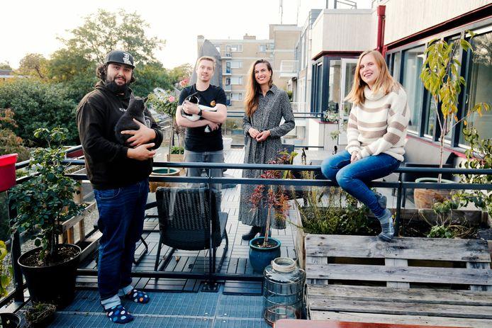 Van links naar rechts: Bas, Niels , Marjon en Linda