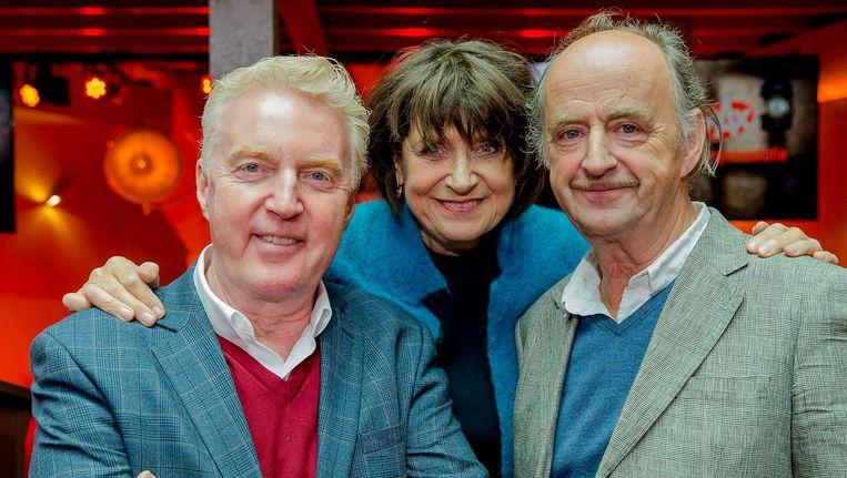 Andre van Duin, Olga Zuiderhoek en Kees Hulst spelen de hoofdrollen in de serie. Beeld ANP