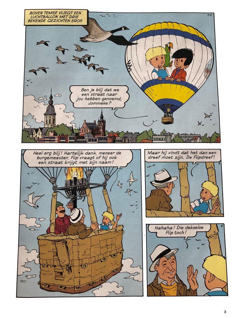 De nieuwe Jommekeballon en burgemeester Luc De Ryck kregen een rolletje in het album.