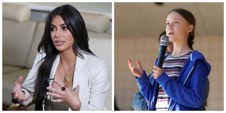 Kim Kardashian wil een ontmoeting met Greta Thunberg