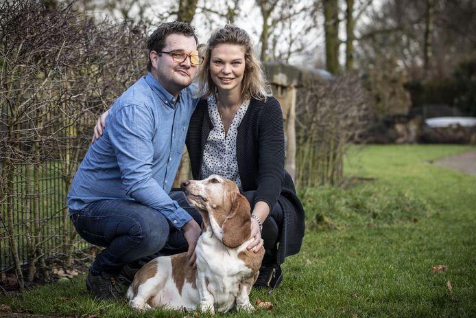 Nick Rikhof en zijn vrouw Anouk, eerder dit jaar.