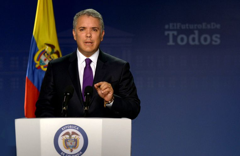 De Colombiaanse president Ivan Duque.