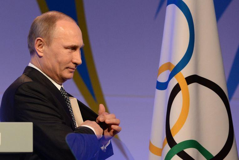 Vladimir Poetin moet de Russische atleten naar de Spelen helpen.