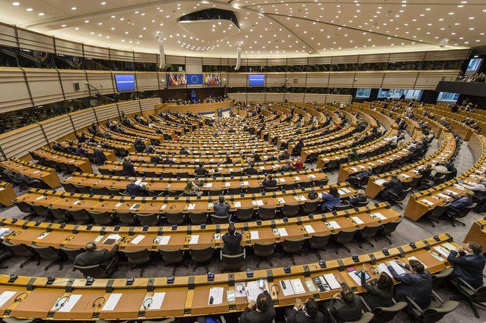 De plenaire zaal in het Europees Parlement in Brussel.