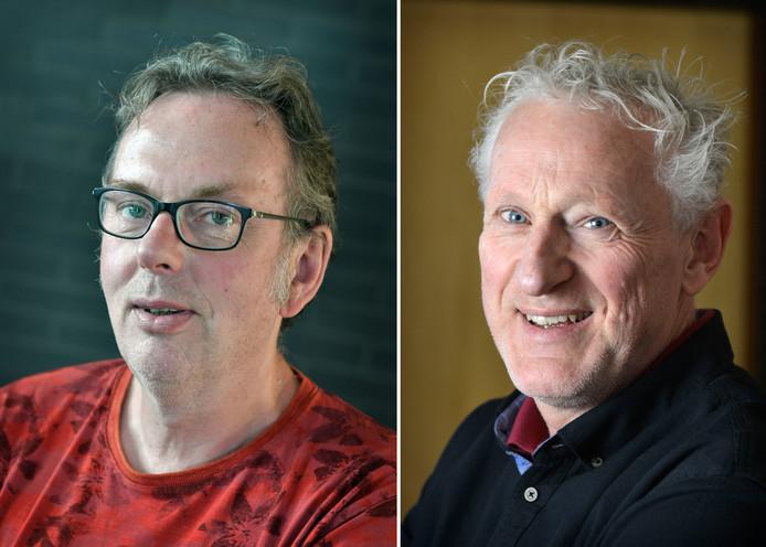 Verslaggevers Dick Janssen en Hans Brok.