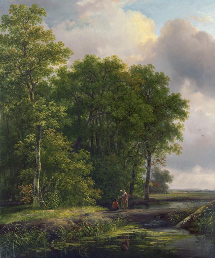 Het schilderij van Andreas Schelfhout.