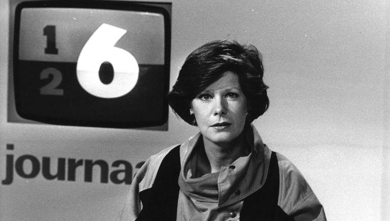 Maartje van Wegen, hier in 1984, is één van de oud-presentatoren die vandaag weer aanschuiven Beeld anp