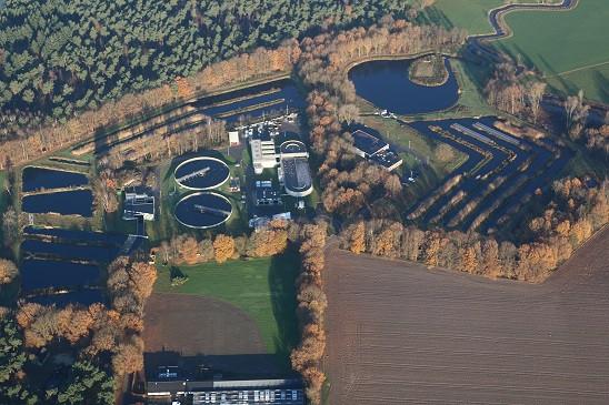De riooolwaterzuivering in Soerendonk