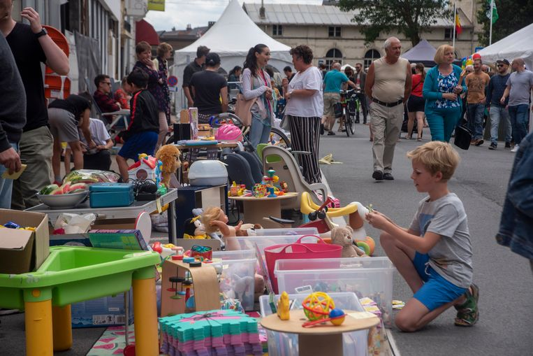 Jeugd en rommelmarkt op de He-Melse Feesten in Melle.