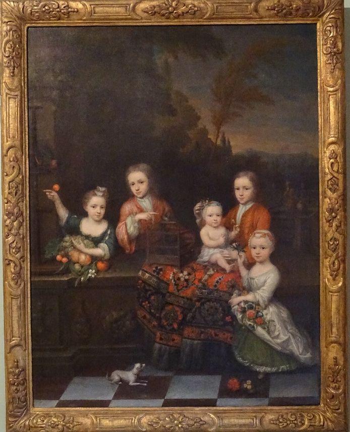 Op het schilderij staan de vijf oudste kinderen van het gezin Ketelaer.