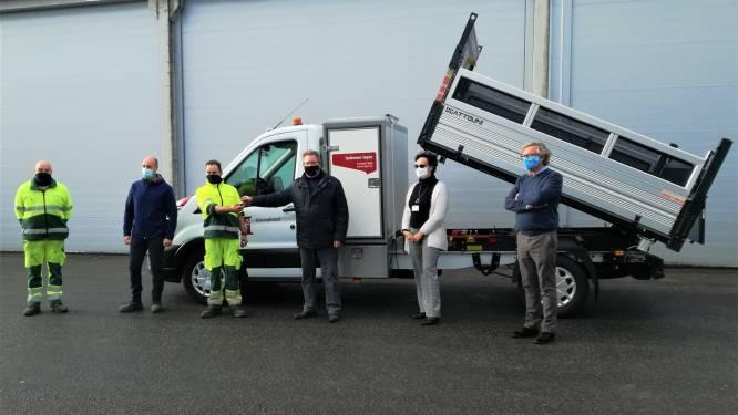 Nieuwe bestelwagen voor de groendienst