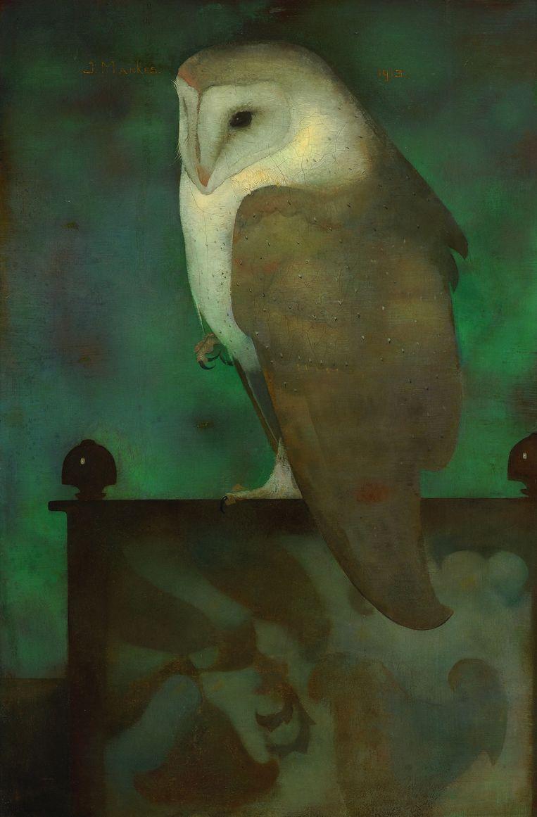 Jan Mankes: Grote uil op scherm, 1913. Beeld Collectie Museum MORE